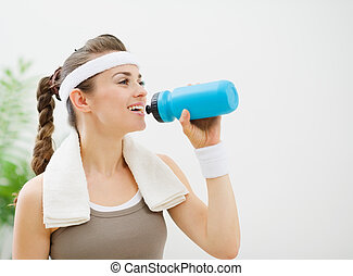 воды, питьевой, женщина, фитнес