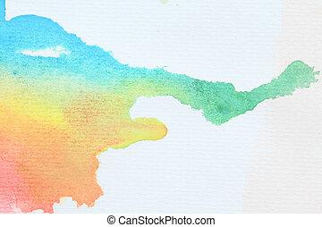 воды, цвет