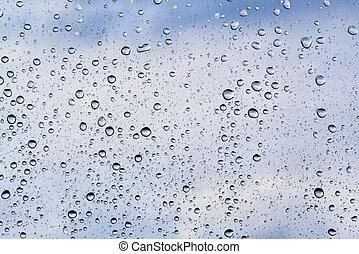 воды, drops, синий