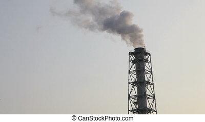 воздух, загрязнение, дым, and, стим
