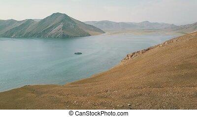 воздух, озеро, посмотреть, anga, сибирь, байкал, долина