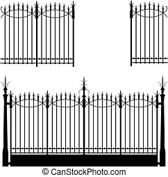 ворота, and, забор