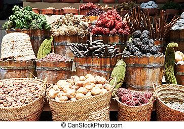восток, улица, рынок, spices