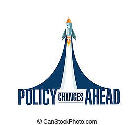 впереди, ракета, дым, политика, сообщение, изменения