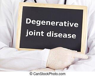 врач, information:, болезнь, совместный, degenerative, shows