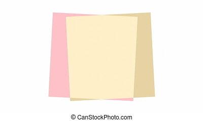 вращающийся, другие, squares, задний план, каждый, белый, ...