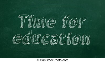 время, для, образование