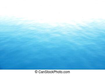 все еще, синий, море, воды, поверхность
