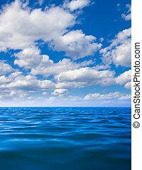 все еще, спокойный, море, воды, поверхность