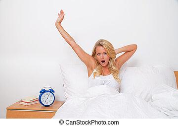вставай, and, leave., делать ставку, , утро, в, хорошо,...
