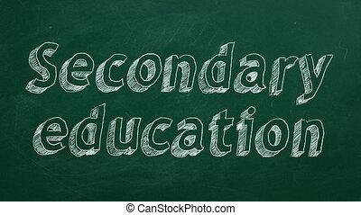 вторичный, образование