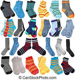 выбор, of, различный, socks