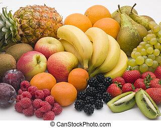 выбор, of, свежий, фрукты