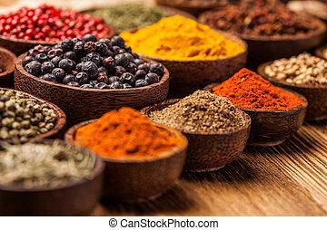 , выбор, of, spices