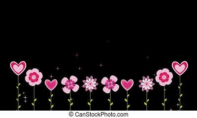 выращивание, абстрактные, цветы