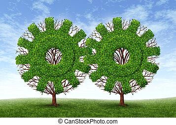 выращивание, бизнес, партнерство