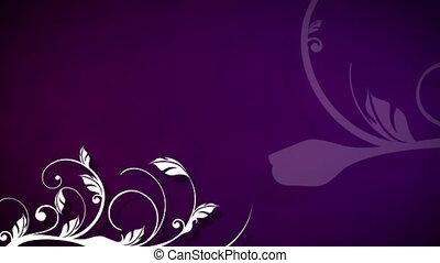 выращивание, пурпурный, vines, против, задний план