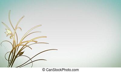 выращивание, растение, задний план