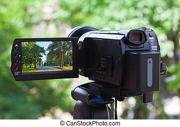 высокая, определение, видеокамера