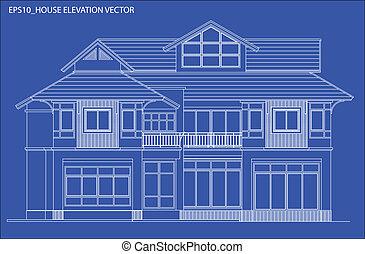 высота, дом, вектор