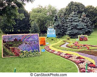 выставка, flowers., натуральный