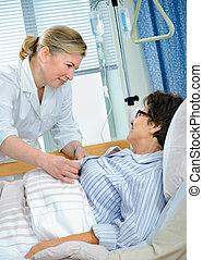 в, больница