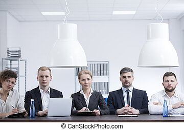 в течение, встреча, businesswomen, businessmen