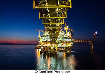газ, платформа, или, установка, платформа