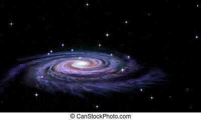 галактика, спираль, путь, молочный