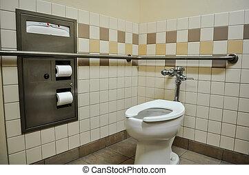 гандикап, туалет, стойло