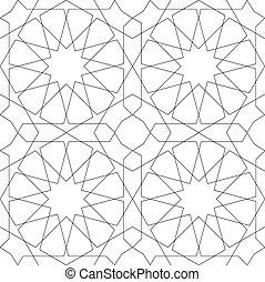 геометрический, бесшовный, шаблон, белый