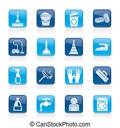 гигиена, уборка, icons