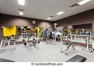гимнастический зал, оборудование