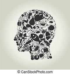 глава, питание