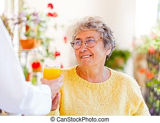 главная, пожилой, забота