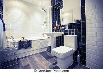 главная, стильный, wc, комната