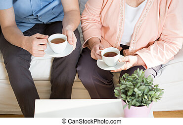 главная, чай, уход, после полудня