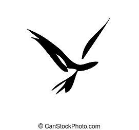гладкий; плавный, птица