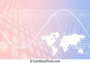 глобальный, бизнес, абстрактные, задний план