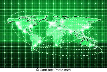 глобальный, будущее, технологии
