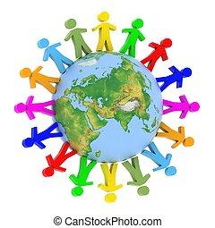 глобальный, коммуникация, концепция