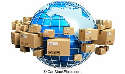 глобальный, перевозка, концепция