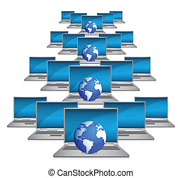 глобальный, сеть, интернет