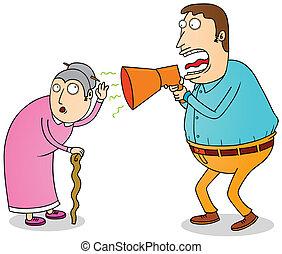 глухой, бабушка