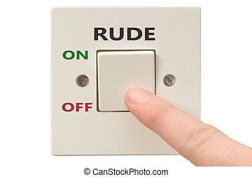 гнев, управление, выключить, грубый