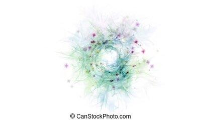 гнездо, трава, &, хаос, planktonic