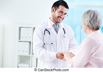 говорящий, with, пациент