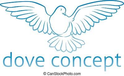 голубь, концепция