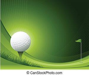 гольф, задний план