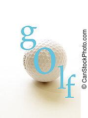 гольф, мяч